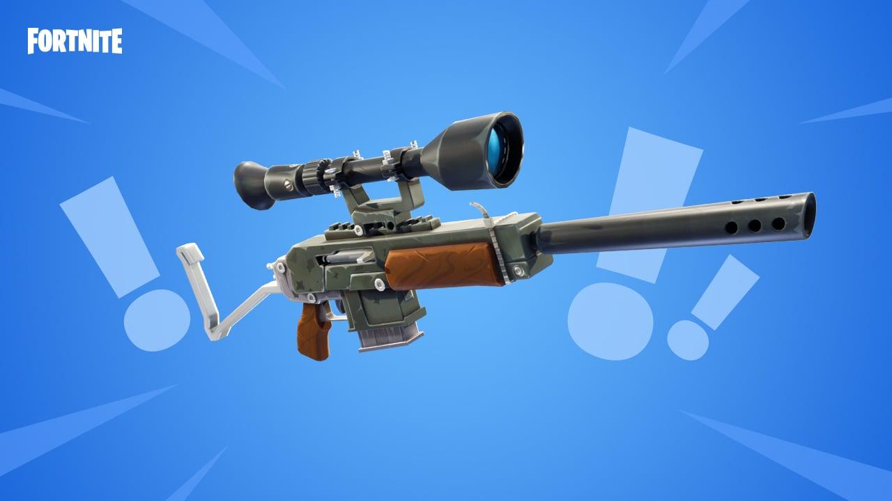 semi auto sniper - vaulted fortnite guns