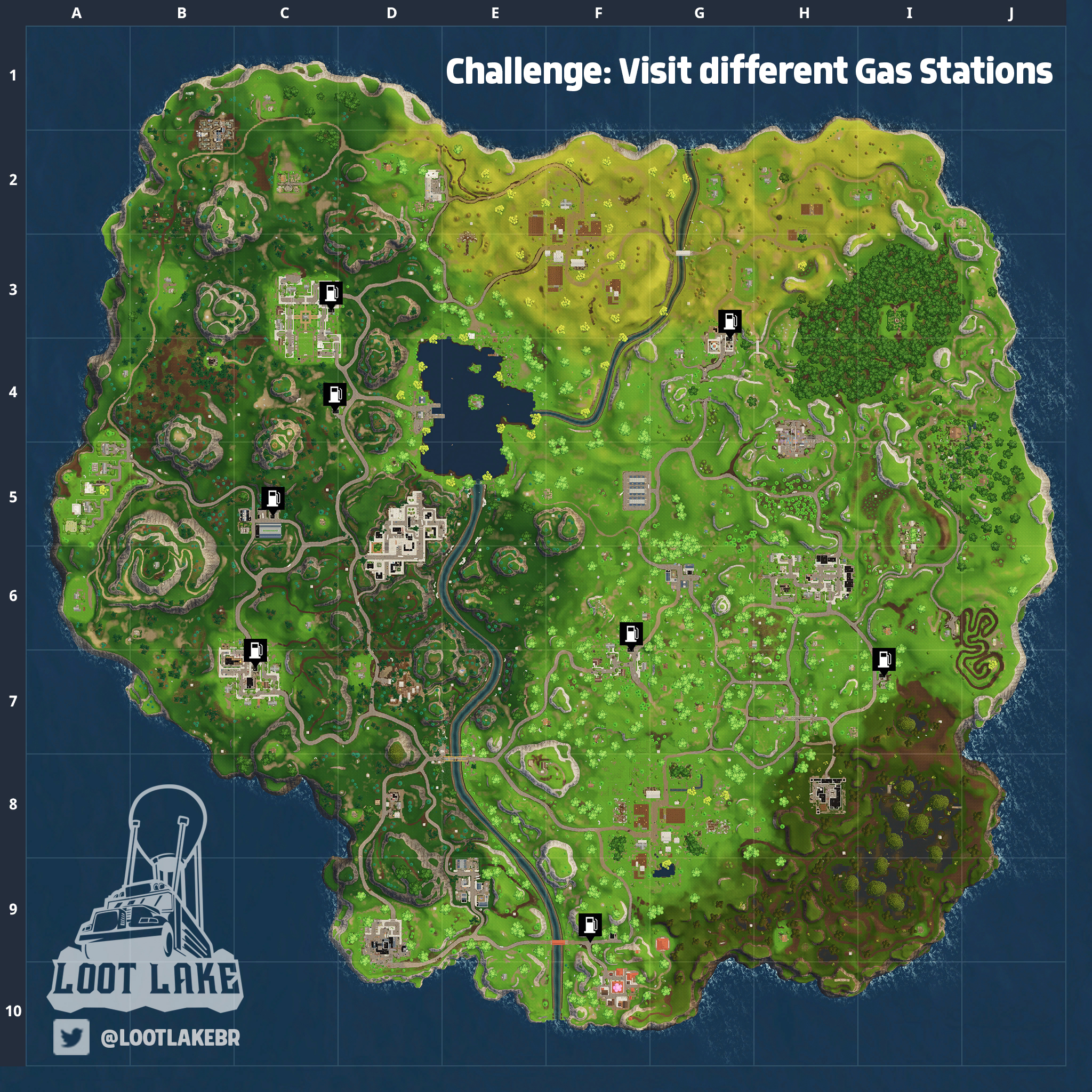 Fortnite Battle Royale: Visit three different gas stations challenge locations