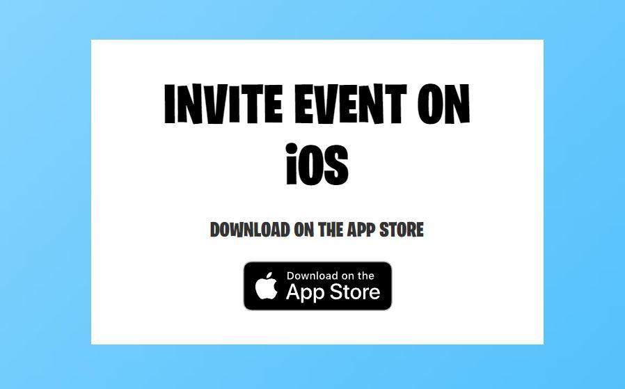fortnite invite ios