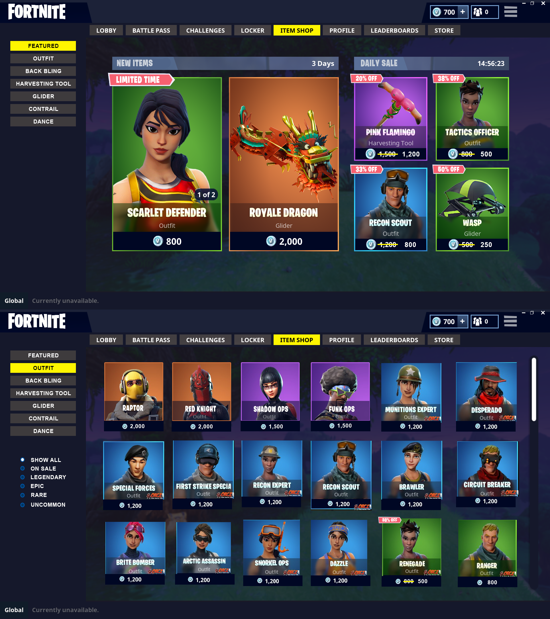 Permanent Shop for Non-Seasonal Skins and Daily Sales ...