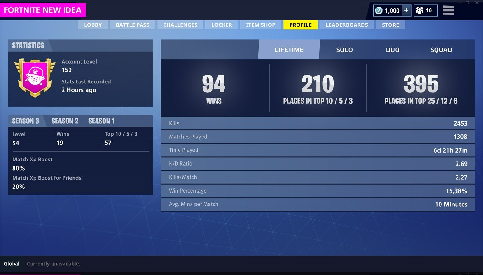 there are many players that want to see these stats to see how well they are doing and to compare with friends they have also added seasons 2 and 1 to show - how to see your stats on fortnite