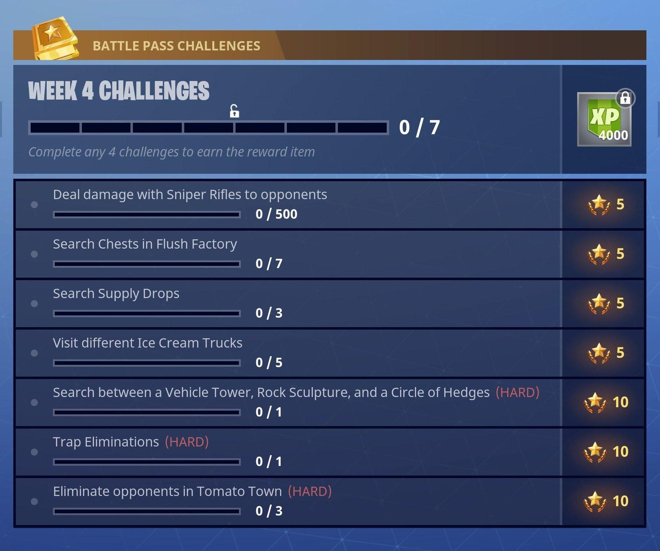 Fortnite Battle Royale Season 3 Week 4 Challenges Fortnite Insider