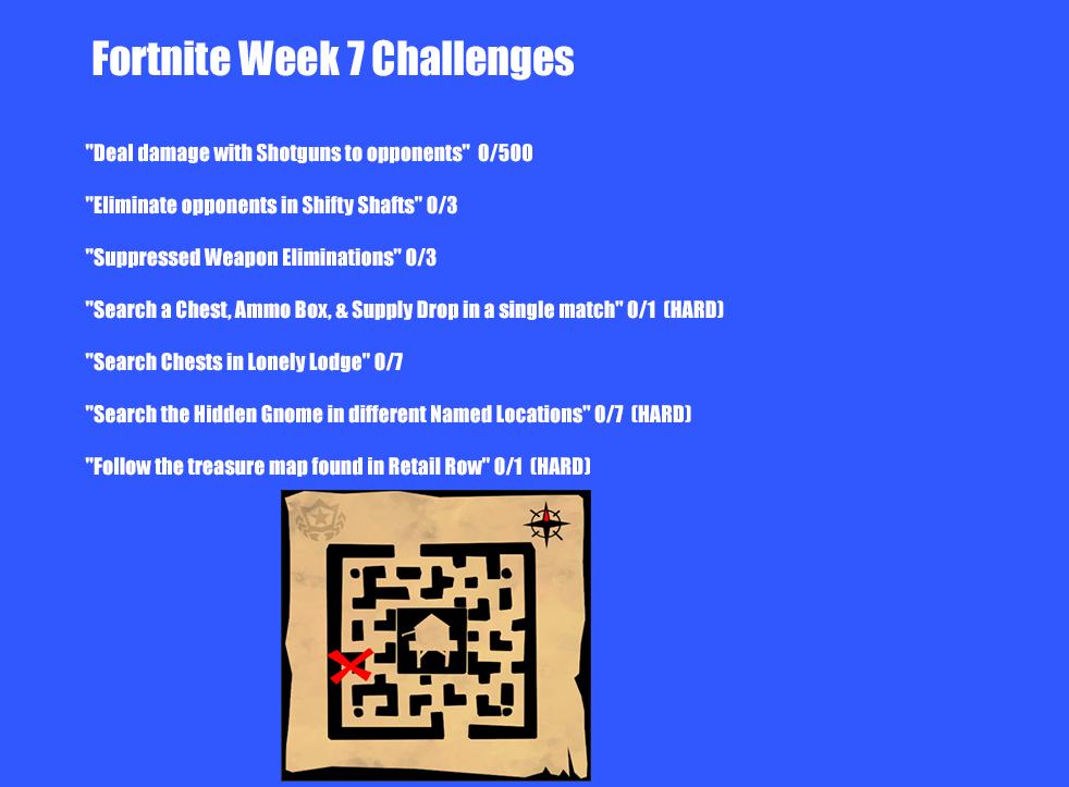 Leaked Season 3, Week 7 Challenges for Fortnite Battle Royale