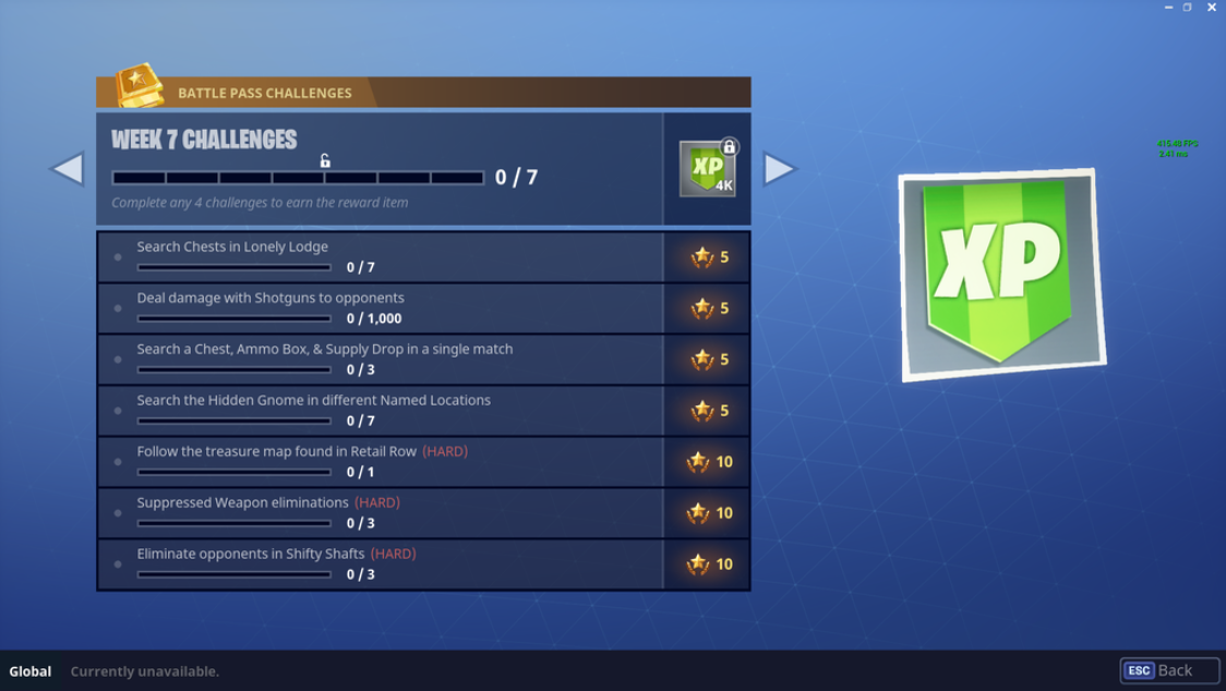 Fortnite Battle Royale Season 3 Week 7 Challenges