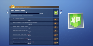 Fortnite Battle Royale Week 8 Challenges