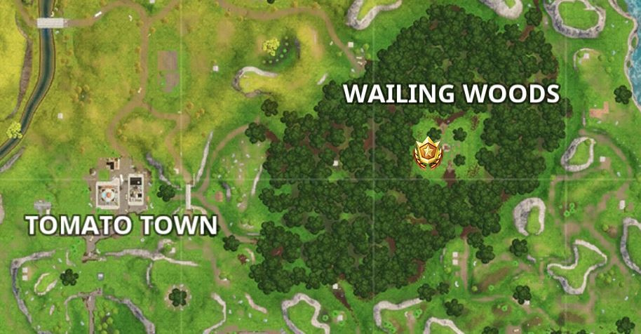 Fortnite Week7 Season 3 Challenge Wailing Woods