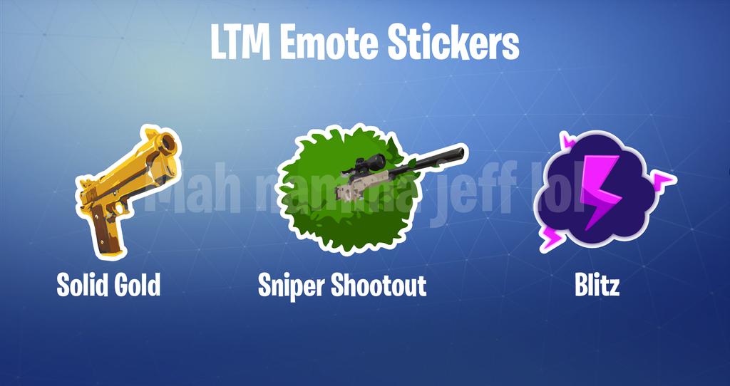 Emote Stickers For Winning Ltm S In Fortnite Concept Fortnite Insider
