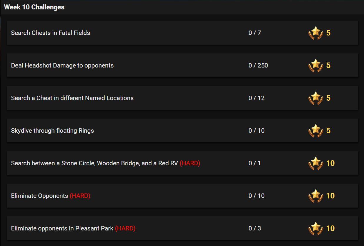Fortnite Battle Royale Season 3 Week 10 Challenges Leaked