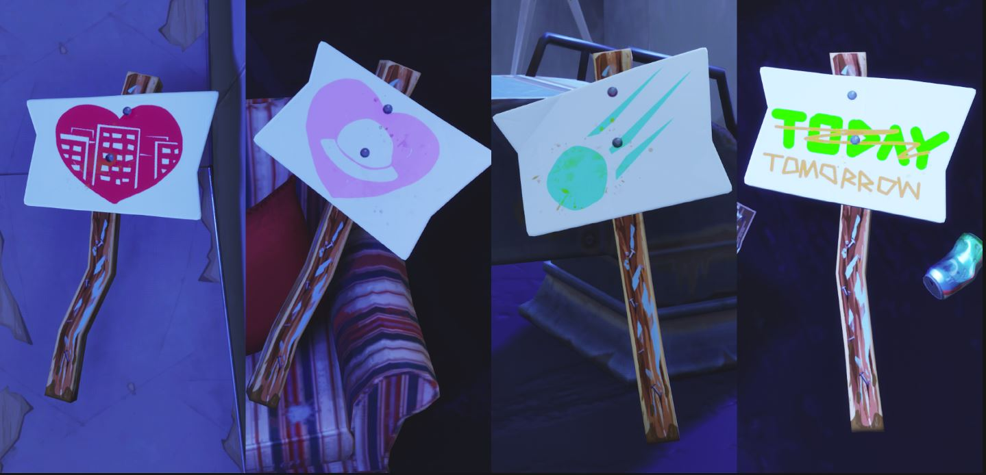 signs in fortnite comet