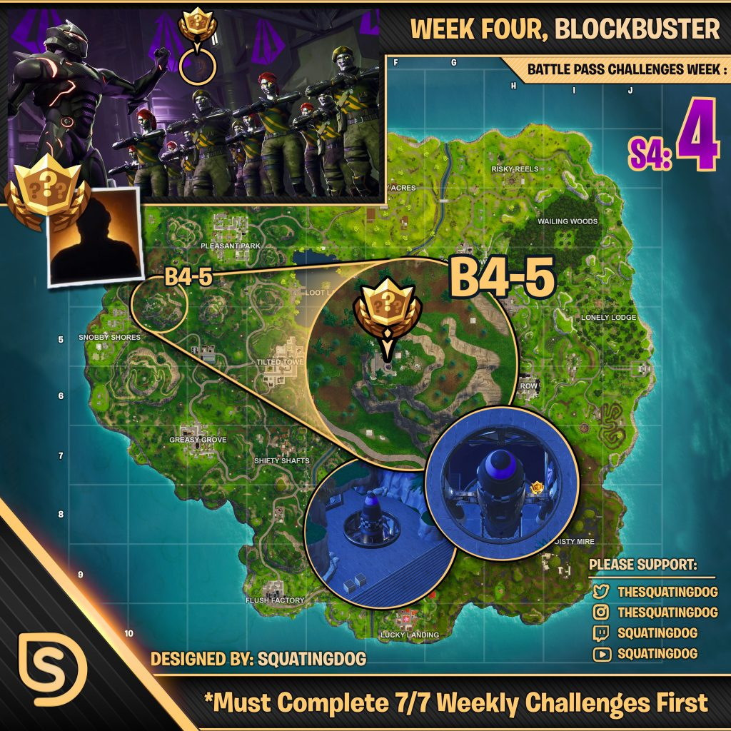Blockbuster week 4 star challenge location