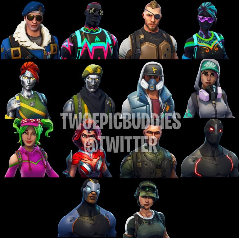 New Leaked Fortnite Battle Royale Skins Fortnite Insider
