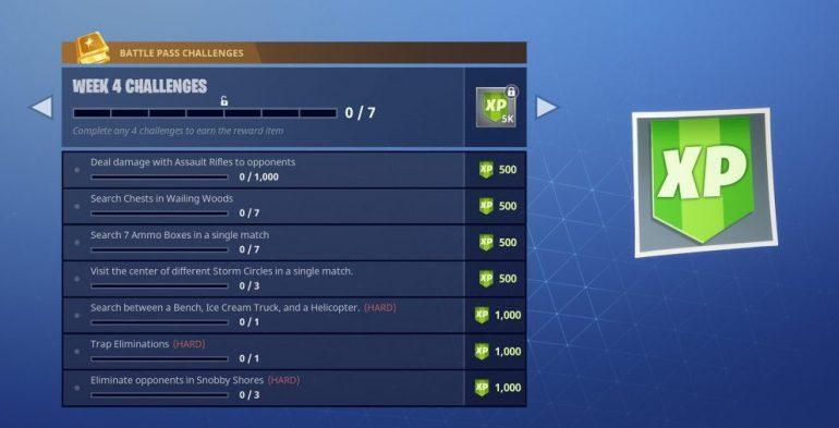 Fortnite Season 4 Week 4 Challenges Fortnite Insider