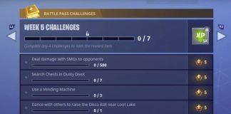 Fortnite Battle Royale - Season 4, Week 5 Challenges