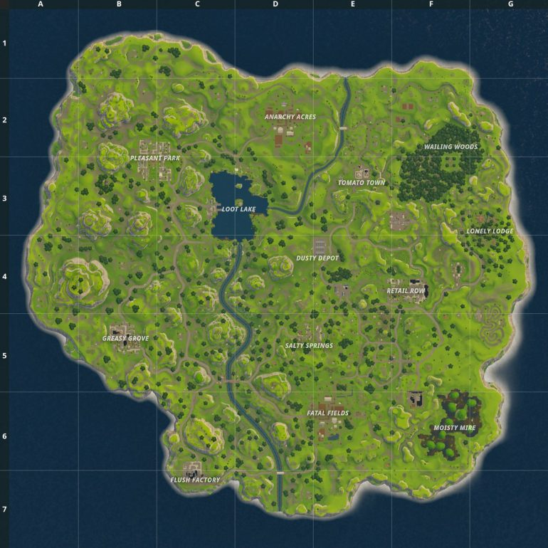 How the Fortnite Map has Changed Since Release Fortnite Insider
