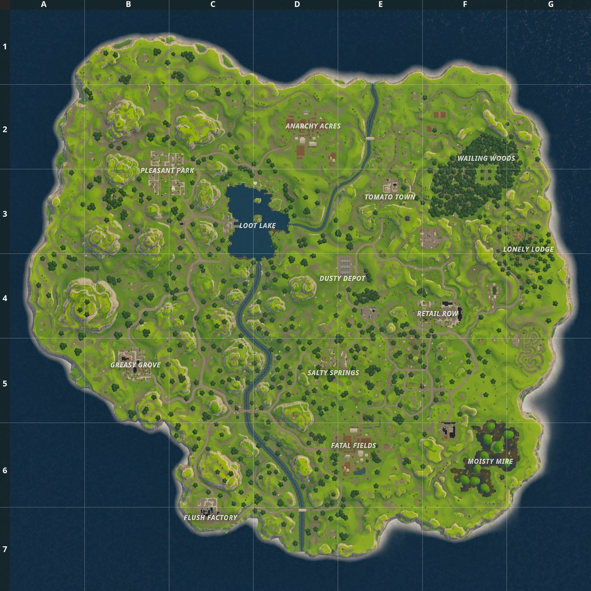 Image result for original fortnite map