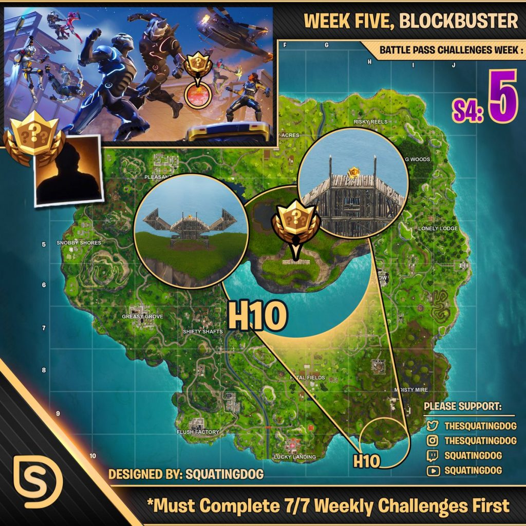 Fortnite Week 5 blockbuster challenge star tier location