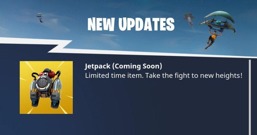 Jetpacks Fortnite Battle Royale
