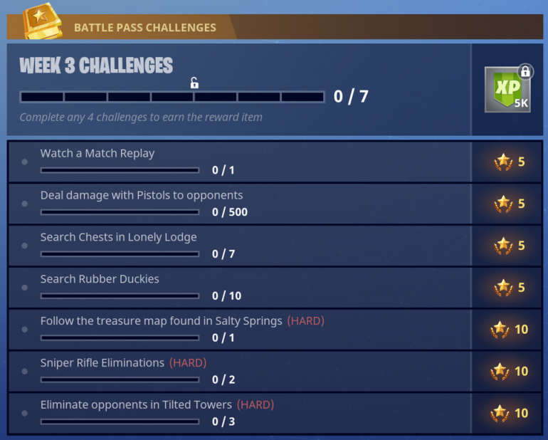 Fortnite Season 4 Week 3 Challenges Fortnite Insider
