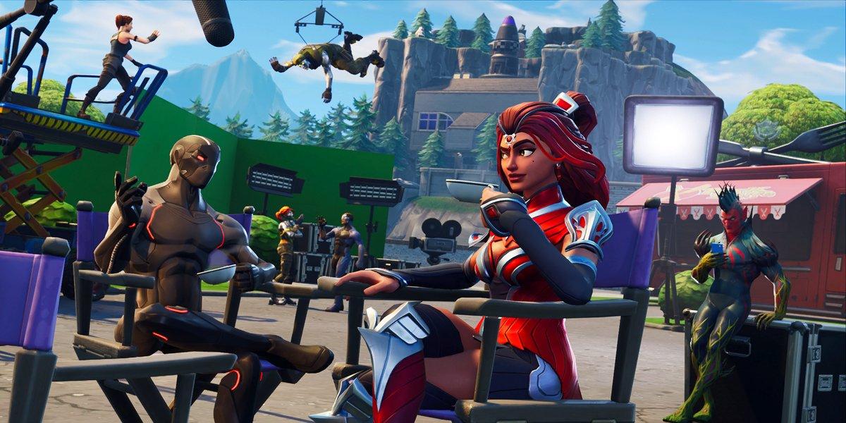 Season 4 Week 6 Blockbuster Challenge Loading Screen in Fortnite Battle Royale