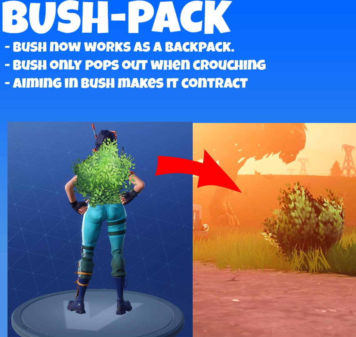 Bush Backpack Item in Fortnite Battle Royale