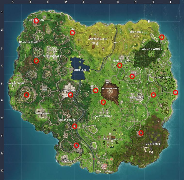 Carbide & Omega Poster Locations on Map