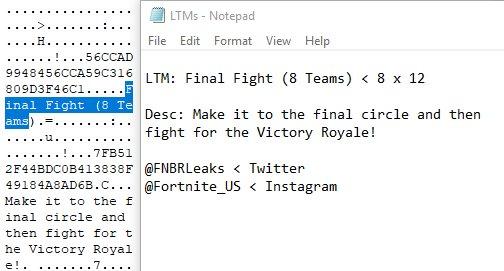 New Score Royale Amp Final Fight Ltm S Datamined Fortnite