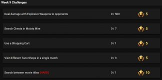 Fortnite Battle Royale Season 4, Week 9 Leaked Challenges