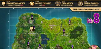 Fortnite Season 4, Week 8 Cheat Sheet