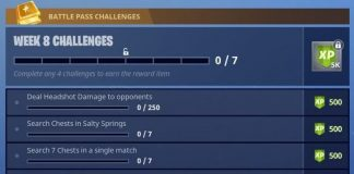 Season 4, Week 8 Fortnite Battle Royale Challenges