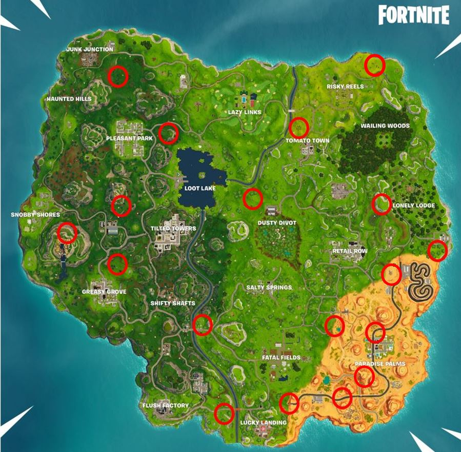 All Fortnite Rift Locations On The Map Fortnite Insider