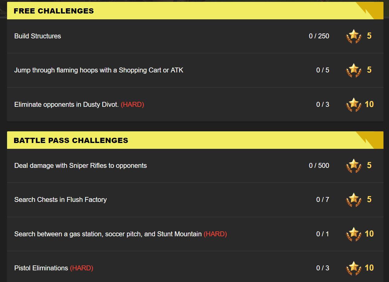 Fortnite Leaked Challenges for Season 5, Week 4