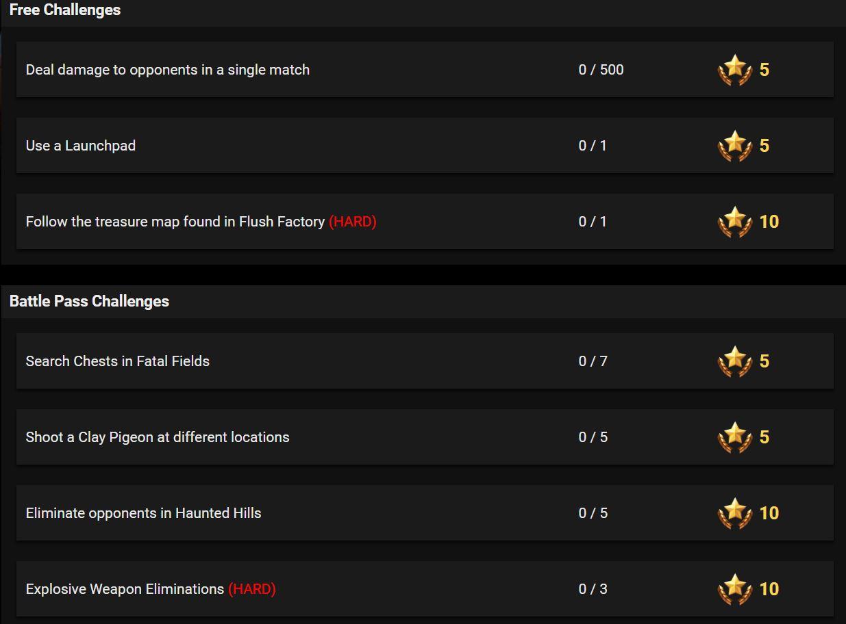 Fortnite Season 5 Week 3 Leaked Challenges Fortnite Insider