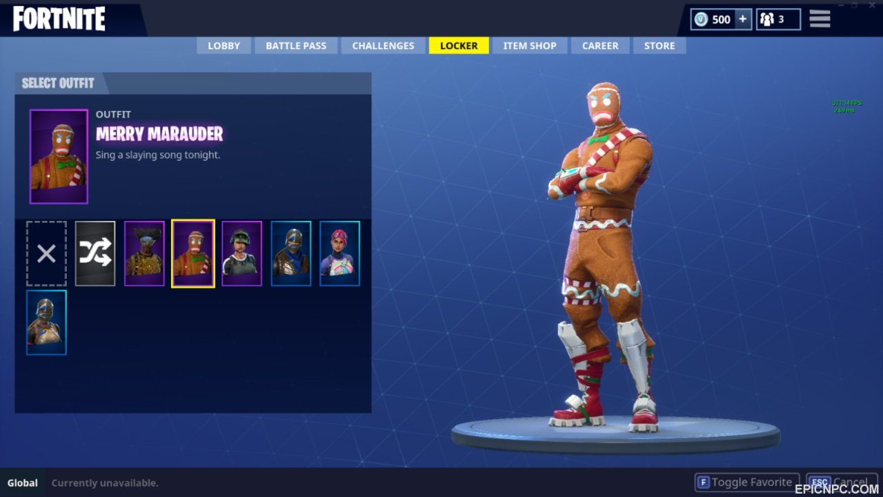 merry marauder item shop return - what was the first skin in fortnite shop