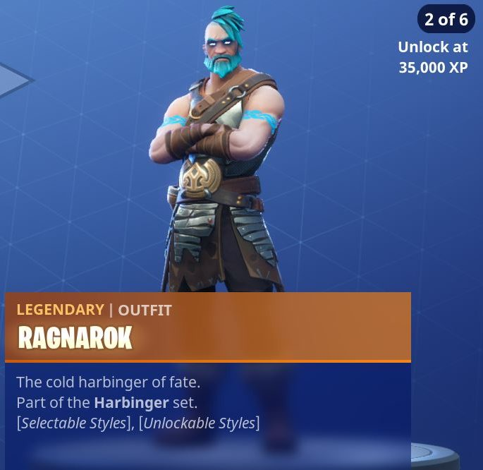 Fortnite Season 5 Battle Pass Tier 100 Ragnarok Skin/Outfit Style 2