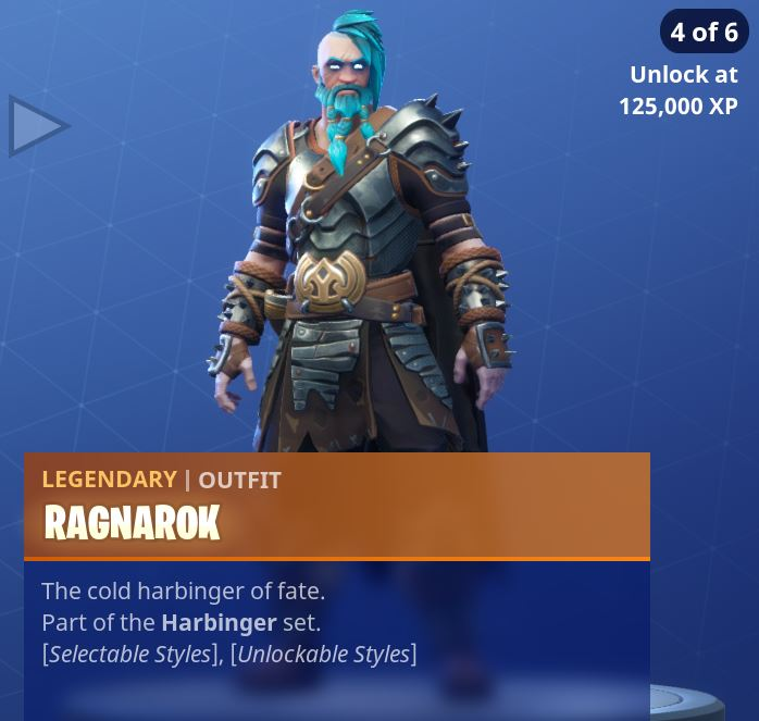 Fortnite Season 5 Battle Pass Tier 100 Ragnarok Skin/Outfit Style 4