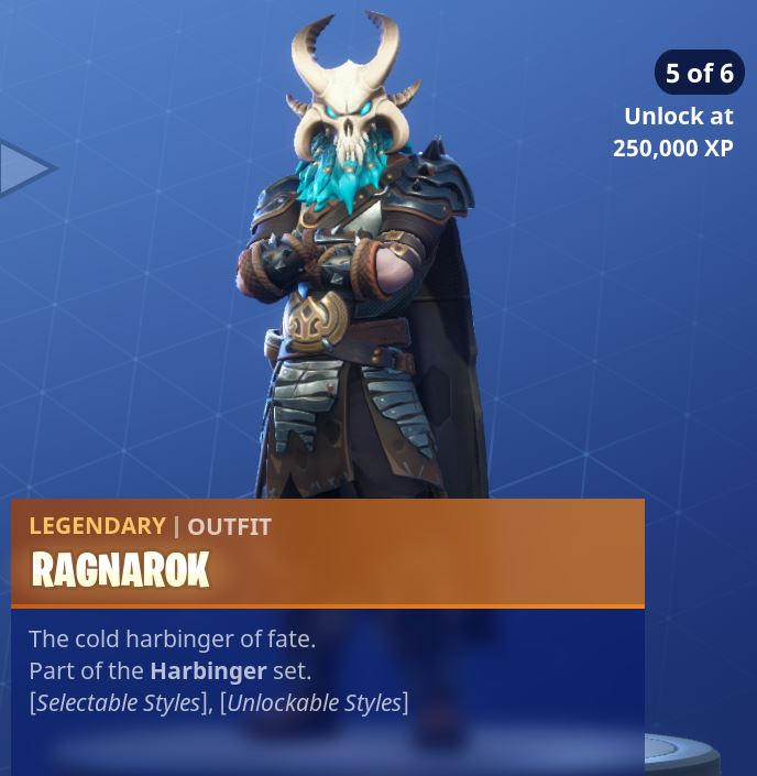 Fortnite Season 5 Battle Pass Tier 100 Ragnarok Skin/Outfit Style 5