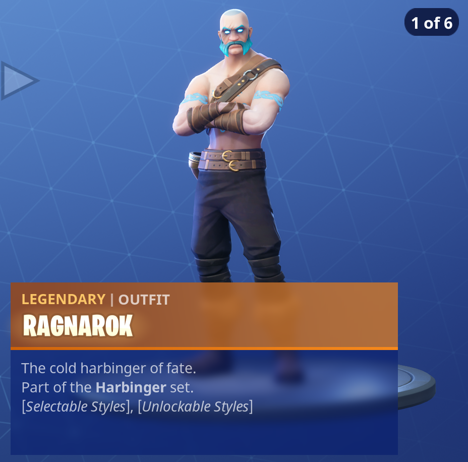 Fortnite Season 5 Battle Pass Tier 100 Ragnarok Skin/Outfit Style 1