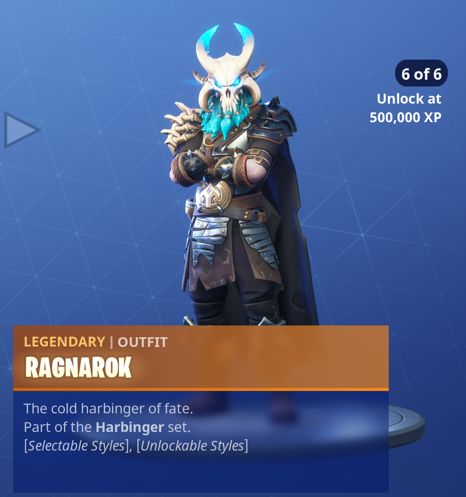 Fortnite Season 5 Battle Pass Tier 100 Ragnarok Skin/Outfit Style 6