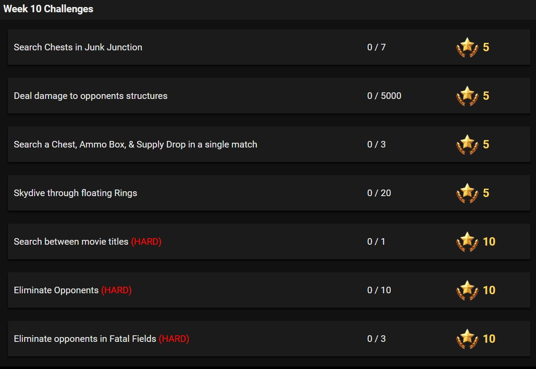Fortnite Season 4 Week 10 Leaked Challenges Fortnite Insider