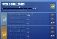 Fortnite Season 5, Week 3 challenges
