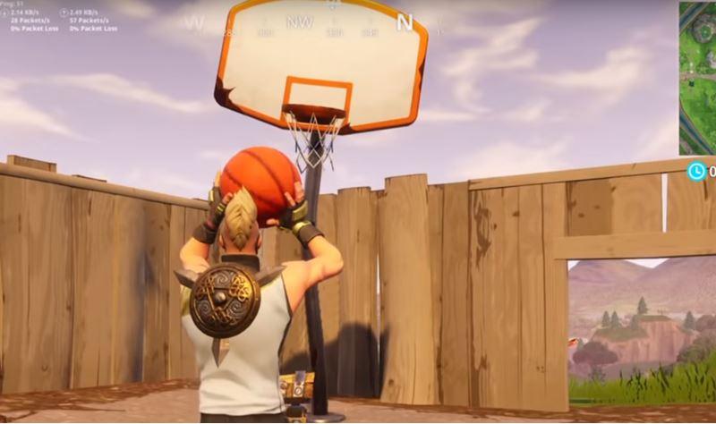 Basketball challenge fortnite