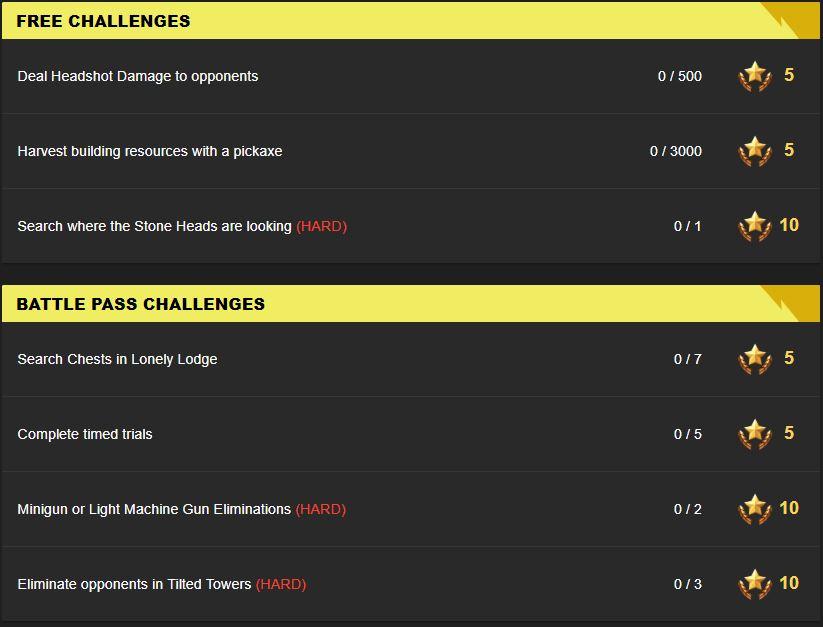 Fortnite Season 5 Week 6 Leaked Challenges Fortnite Insider