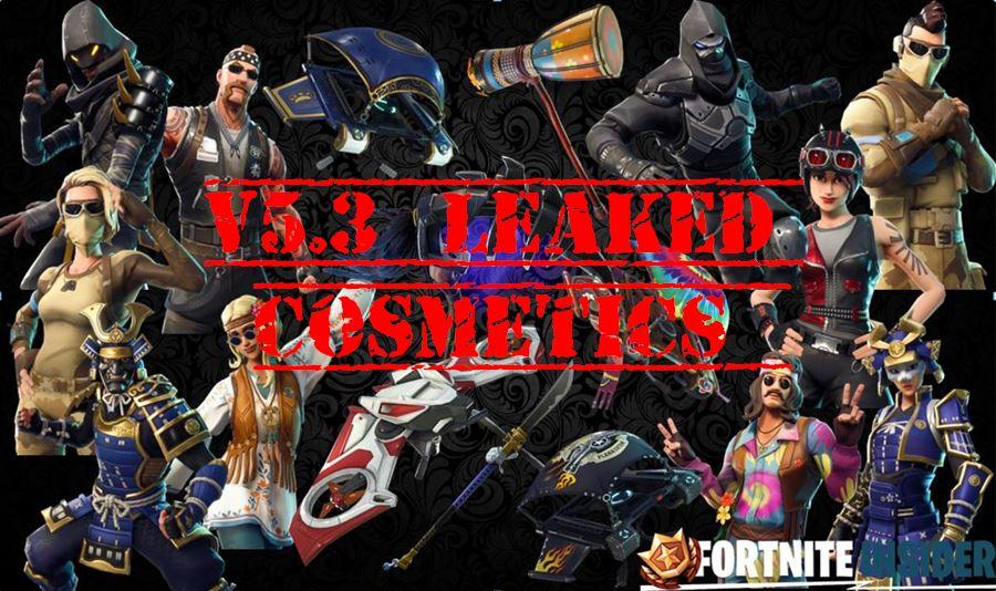 Fortnite Leaked Skin & Cosmetics for v5.3 l