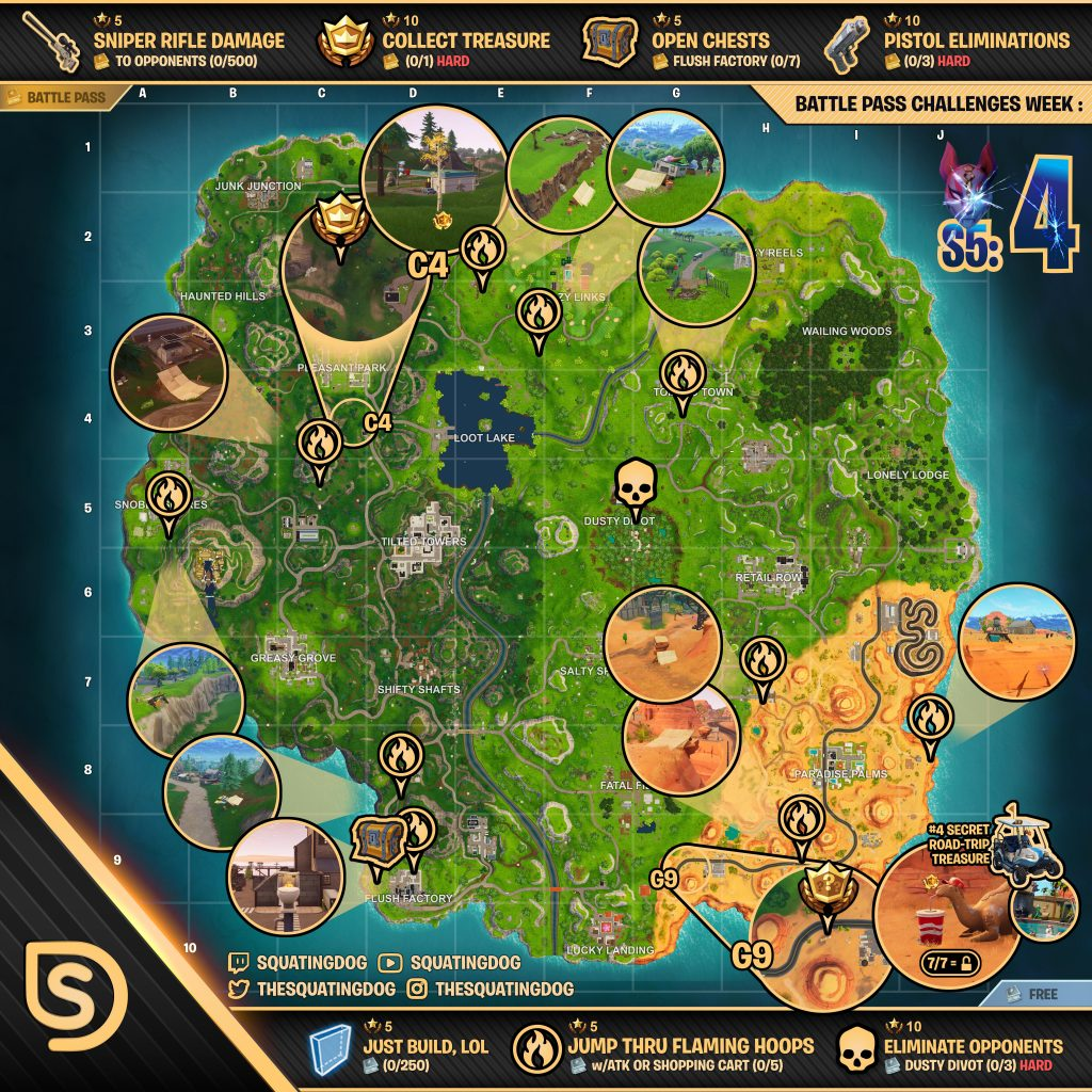 Fortnite challenge map season 6