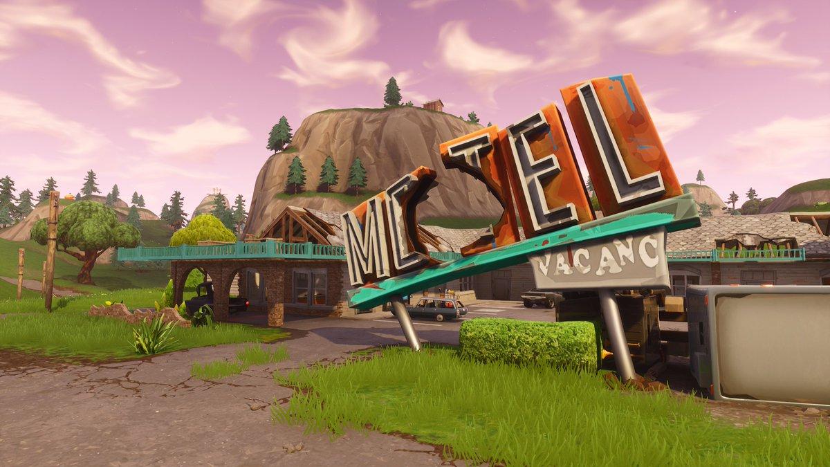 Fortnite Motel Sign