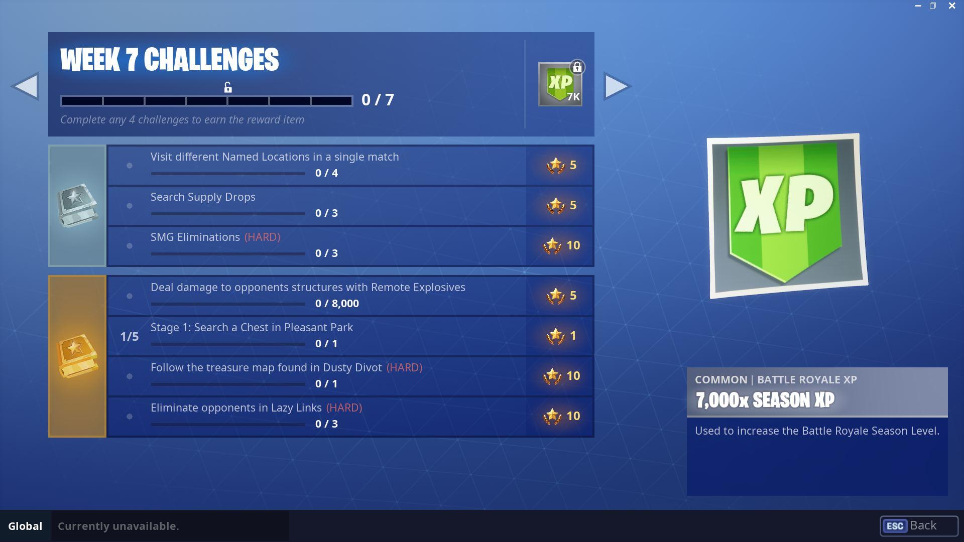 Fortnite Season 5, Week 7 Challenges Official