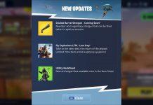 Fortnite in game shotgun update