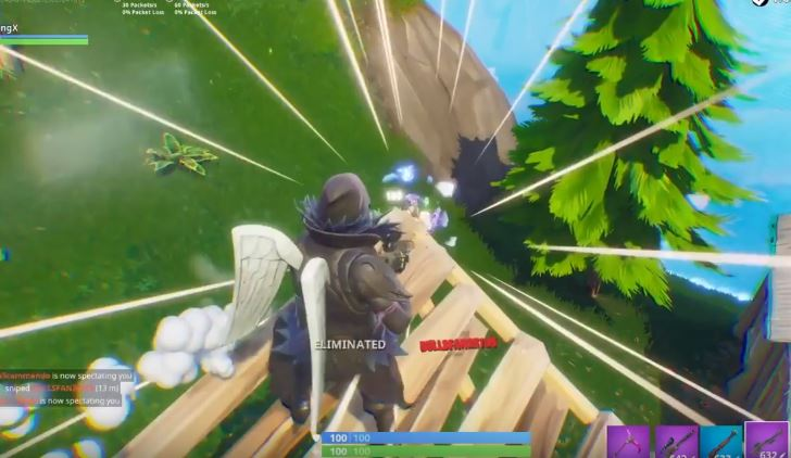 Gameplay Of The New Heavy Sniper Rifle Added Into Fortnite Battle