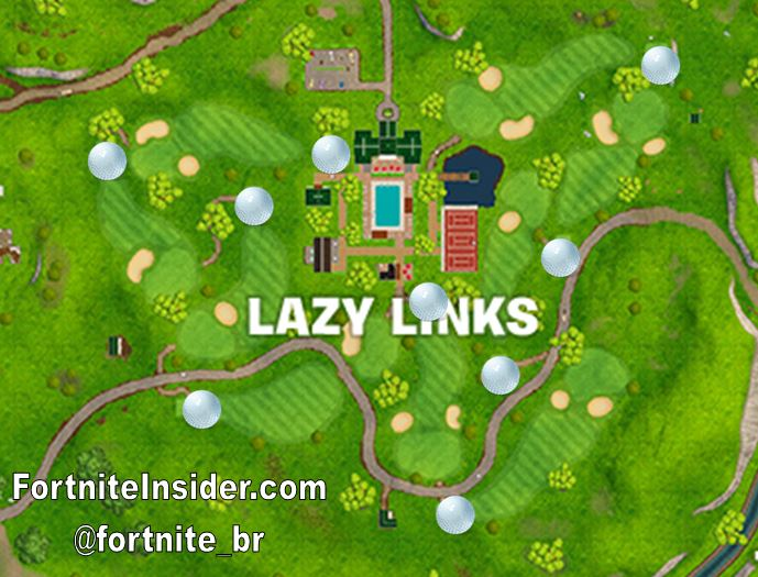 How to complete 'Hit a Golf Ball From Tee to Green on Different Holes' Fortnite Season 5, Week 5 Challenge Locations on map
