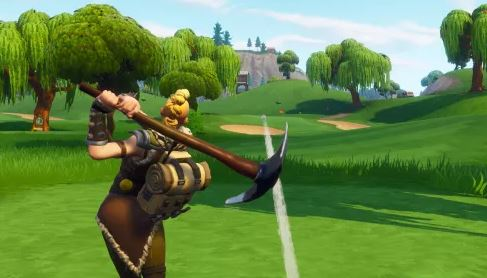 Playing golf in fortnite